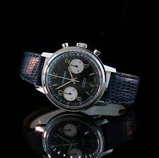 Stunning Mens Vintage Wakmann Chronograph Watch Panda Valjoux 7733