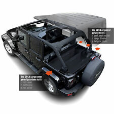 GPCA 4DR Jeep Wrangler Cargo Cover LITE+Organizer,Freedom Pack for JKU 2007-2017