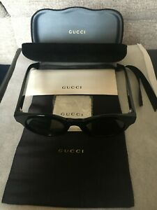 Sunglasses Gucci Black Round Romantic, Ladies, Brand new,unused with case.
