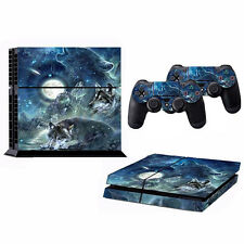 1set Wolf Moon Decal Skin Sticker for PS4 K8J3