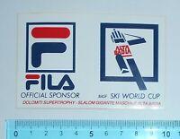 ADESIVO VINTAGE STICKER AUTOCOLLANT FILA SKI WORLD CUP ANNI '80 10x6 cm