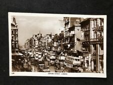 Vintage Real Photo Postcard #TP1657: Busy Oxford Street London C1920s
