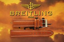 DEMO BREITLING 20-18 HONEY TAN OIL TONGUE BUCKLE BULL WATCH BAND WATCHBAND STRAP