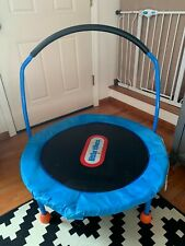 Trampoline Little Tikes 3' Indoor Kids Bounce Jumping Play Fun Safety Bar (USED)