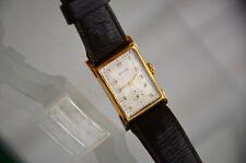 Designer Damen Uhr von Provita 585 gold Lederarmband braun 11707 Vintage