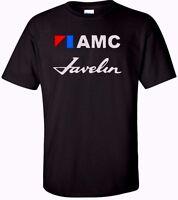 AMC Javelin Racing American Motors T Shirt Vintage Retro Car Men's Black,White