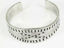 Viking Solid Silver Pewter Cuff Bracelet, Celtic, Reenactment, Hand Crafted
