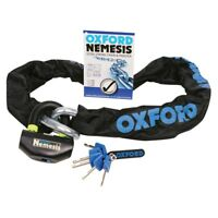 Oxford Nemesis Ultra Strong Chain & Lock SOLD SECURE Motorcycle Bike 16mm x 2M