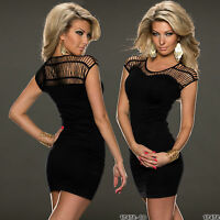 Sexy Top Womens Mini Dress Ladies Clubbing Party Mesh Blouse One Size 6 8 10 12