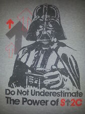 Star Wars Darth Vader Force Physics Equation Funny Grey Shirt Size Adult Large
