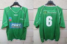Maillot porté n°6 AURILLAC Jako football collection vert shirt camiseta XL