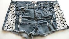 Mudd Juniors Size 9 Denim Distressed Mini Denim Shorts