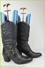 Bottes ANDREA BOSSI Création Cuir Noir T 40 TBE
