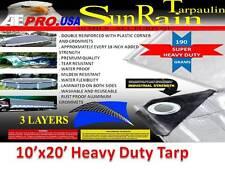 Tarpaulin, 10-Feet x 20-Feet, Silver, Heavy-Duty