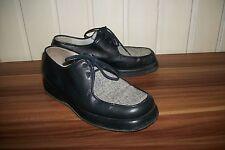 Chaussures mocassins lacets cuir bleu marine DANIEL HECHTER 36 devant toile