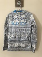 Burton Womens Size S Small WB Peak Hoodie Full Zip Gray Blue Jacket