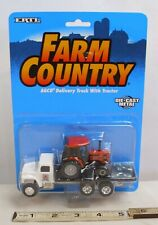 ERTL FARM COUNTRY AGCO DELIVERY TRUCK WITH TRACTOR DIE CAST MODEL MINT CARDED