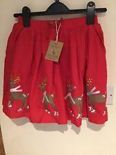 Joules Reindeer Christmas Skirt Age 6 Yrs.