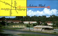 Anderson Motel Cullman Alabama map swimming pool ~ vintage postcard 1970s