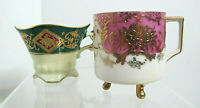 Vtg Set of 2 UCAGCO Victorian Footed Demitasse Porcelain Cups~Japan~No Saucers