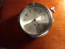 SALAM CHROME SHIPS CLOCK with KEY- WORKING - made in GERMANY