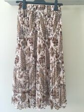 Witchery Fine Pleated Midi Skirt, Paisley Print, Size 6