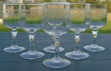 Service de 6 verres à vin blanc en cristal d'Arques, modèle Matignon