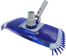 More details for poolwhale pool vacuum head with side nylon bristles, swivel hose connection, ez