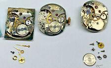Vintage Gruen 440 Curvex Movement Partials Lot for Parts