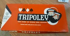 Vintage 1962 Deluxe TRIPOLEY The Game of Kings and Queens by Cadaco