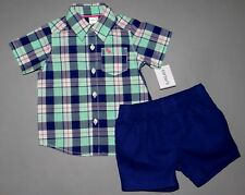 Baby boy clothes, 5T, Carter's adorable Dress shirt, matching shorts/SEE DETAILS