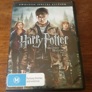 Harry Potter and the Deathly Hallows Part 2 DVD R4 Like New! FREE POST