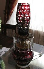 SIMPLY EXQUISITE ANTIQUE QUALITY ORIGINAL  CUT  RUBY GLASS/ CRYSTAL BANQUET LAMP