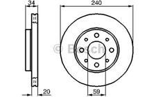 1x BOSCH Disco de freno delantero Ventilado 240mm Para FIAT PANDA 0 986 479 B76