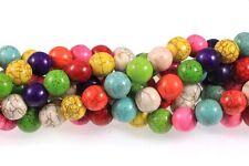 """12mm Magnesite Dyed Mixed White Buffalo Round Beads 15""""  Stone"""