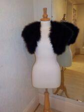 Joan Lee feather Bolero Jacket Black one size