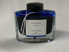 Pilot Iroshizuku (Cerulean - Deep Blue) Kon-Peki 50ml Bottled Ink 95% FULL