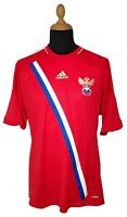 Russia National Team Jersey 2012 L Red Adidas Home Kit Soccer Football Men Euro