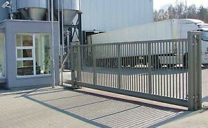Industrial Security Sliding Cantilever Driveway Gates   MADE IN UK