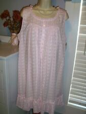 NWT L Large Eileen West Nightgown 100% Cotton NEW Gown PINK Embroidered