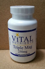 Vital Nutrients Triple Mag (Magnesium) 250 mg 90 caps - 09/2020