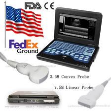 Portable Laptop Machine Digital Ultrasound Scanner,Linear/Convex 2 Probes,CE&FDA
