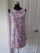 Vtg Lilly Pulitzer Blue & Pink Butterfly Print Sleeveless Dress Sz 4