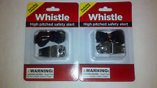 2 Sport Whistles includes Lanyards High Pitched Safety Alert or Referee Whistle