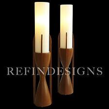 PR MODELINE DANISH MODERN WALNUT ATOMIC SPACE AGE SCULPTURE TABLE LAMP PEARSAL