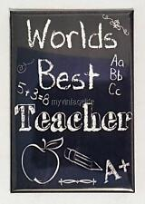 "World's Best TEACHER Vintage Chalkboard Country Style 2"" x 3"" Fridge MAGNET"