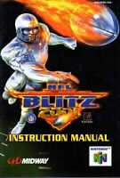 NFL Blitz 2001 - Authentic Nintendo 64 (N64) Manual