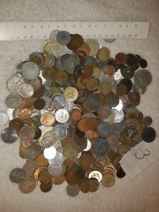 World Foreign Coins A Little Over 5 Lbs. Pounds, Very Nice Mix. Lot #3