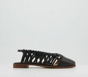 Office Fazerina Woven Flat Shoes Black Leather