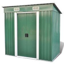 6' x 4' 83 f3 Outdoor Steel Garden Storage Utility Tool Shed Backyard w/ Door